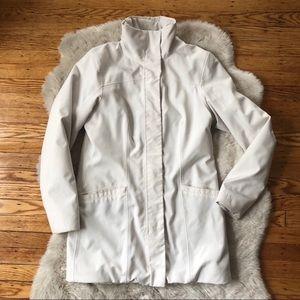 Marmot White Mock Neck Midi Parka Jacket